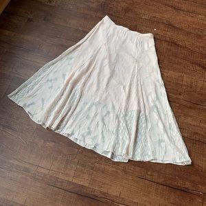 Designer Lewit Light pink overflowing Lacey skirt
